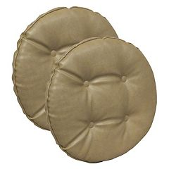 The Gripper Faux Leather Tufted Bar Stool Chair Pad 2-pk.