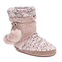 MUK LUKS Women's Delanie Knit Boot Slippers