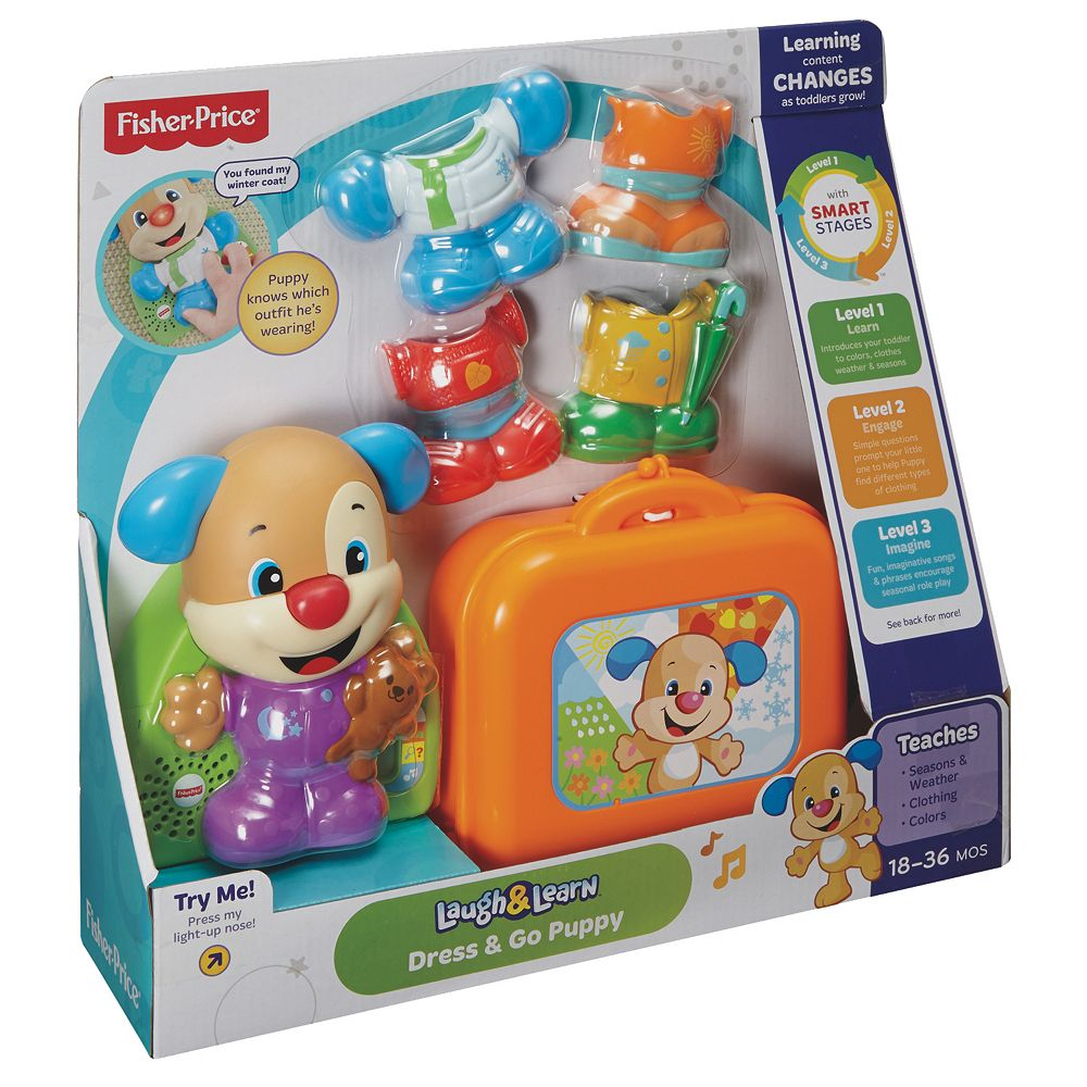 ade8b432f4 Fisher-Price Laugh & Learn Dress & Go Puppy
