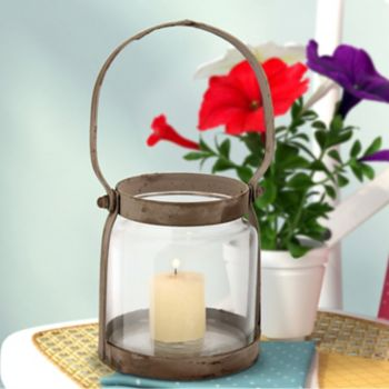 Stonebriar Collection Small Rustic Metal Lantern