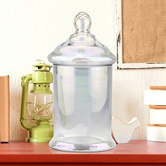Stonebriar Collection Glass Cylinder Apothecary Jar Table Decor