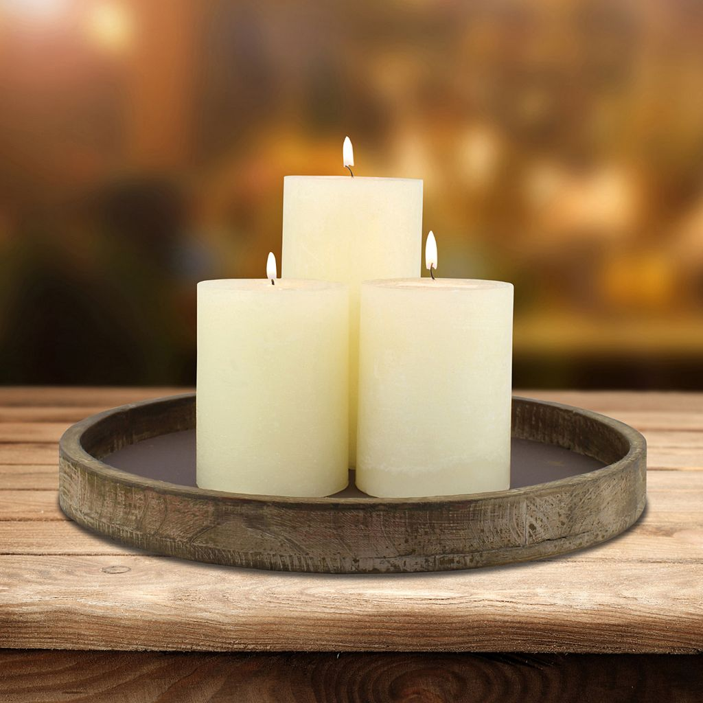 Stonebriar Collection Rustic Candle Holder