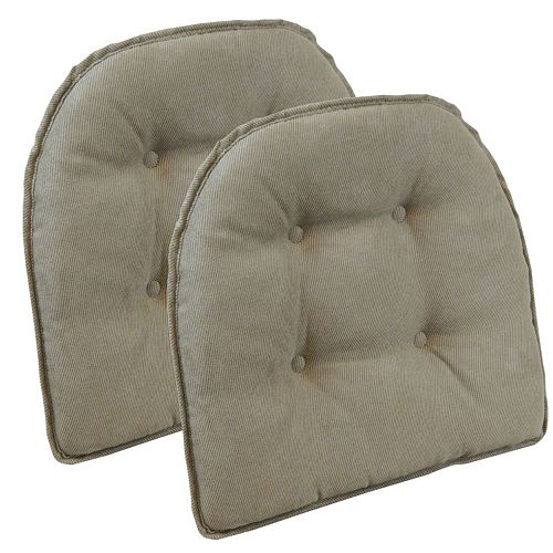 The Gripper Twillo Tufted Chair Pad 2-pk.