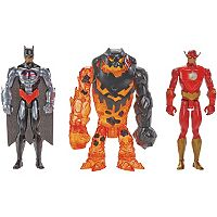 Batman Unlimited Molten Mayhem Batman & The Flash vs. Clayface 3 pc Figure Set by Mattel