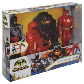 Batman Unlimited Molten Mayhem Batman & The Flash vs. Clayface 3-pc. Figure Set by Mattel