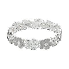 Glittery Flower Stretch Bracelet