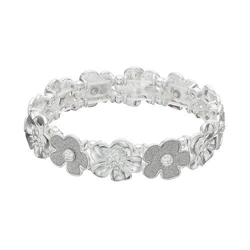 Glittery Flower Stretch Bracelet