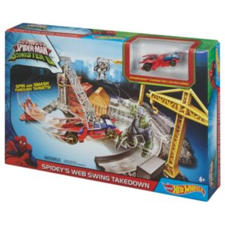 Marvel Ultimate Spider-Man Sinister 6 Spidey's Spinning Web Swing Track Set by Hot Wheels