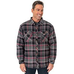 Big & Tall Dickies Classic-Fit Plaid Sherpa-Lined Shirt Jacket