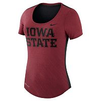 Women's Nike Iowa State Cyclones Dri-FIT Scoopneck Tee
