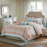 Madison Park Rosie Coral 7-piece Comforter Set