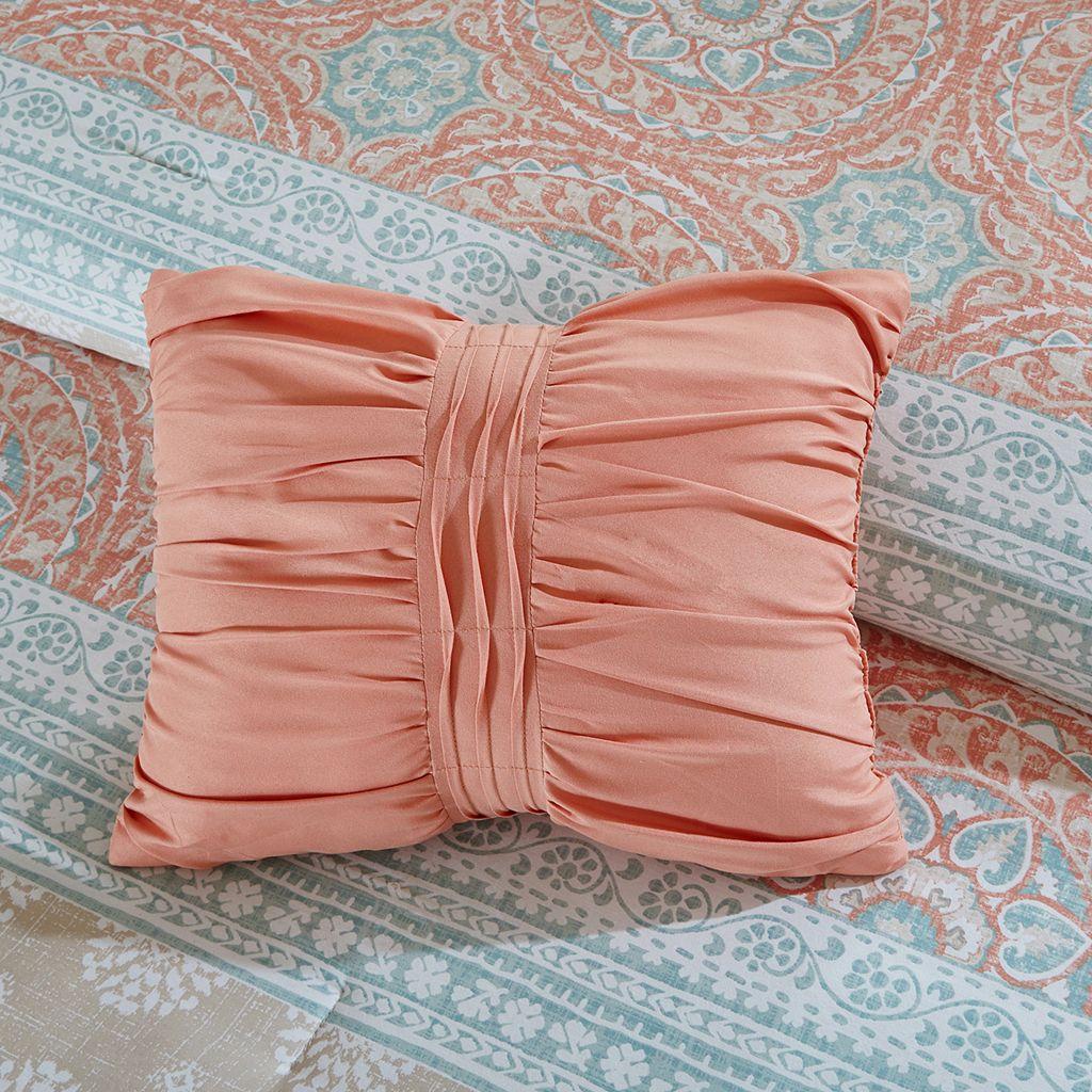 Madison Park Rosie Coral King Bed Set