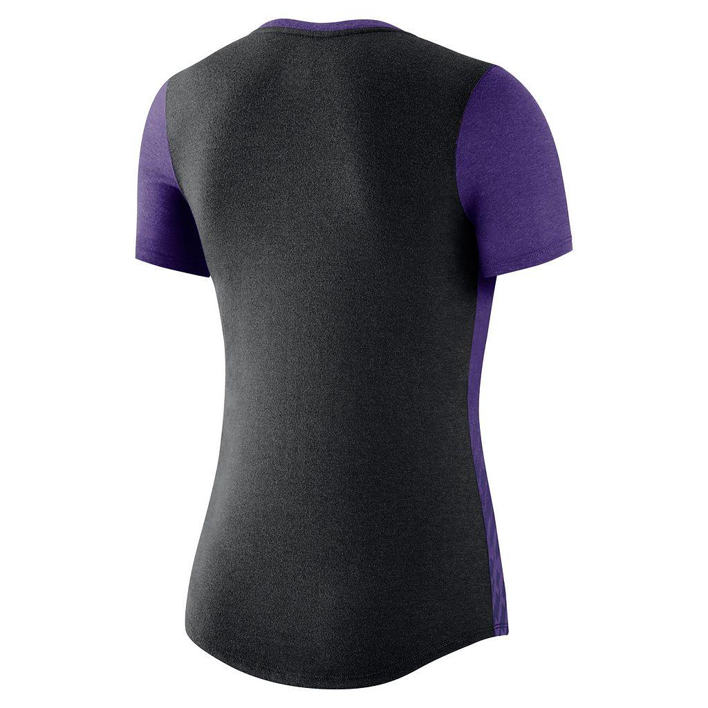 Women's Nike LSU Tigers Dri-FIT Scoopneck Tee