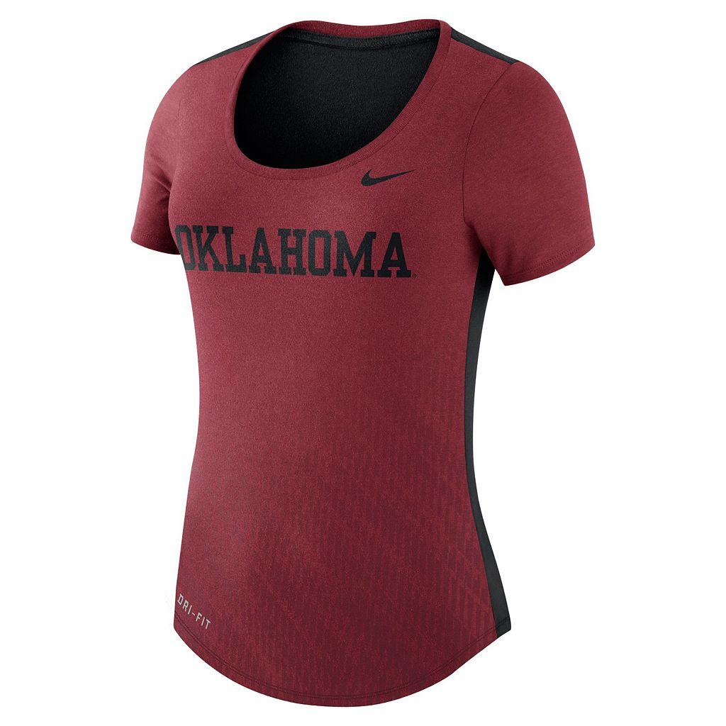 Women's Nike Oklahoma Sooners Dri-FIT Scoopneck Tee