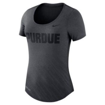 Women's Nike Purdue Boilermakers Dri-FIT Scoopneck Tee