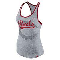 Women's Nike Cincinnati Reds Marled Racerback Tank