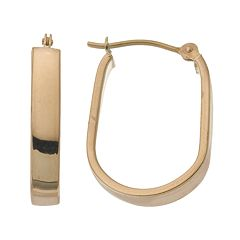 18k Gold U-Hoop Earrings
