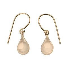 18k Gold Teardrop Earrings