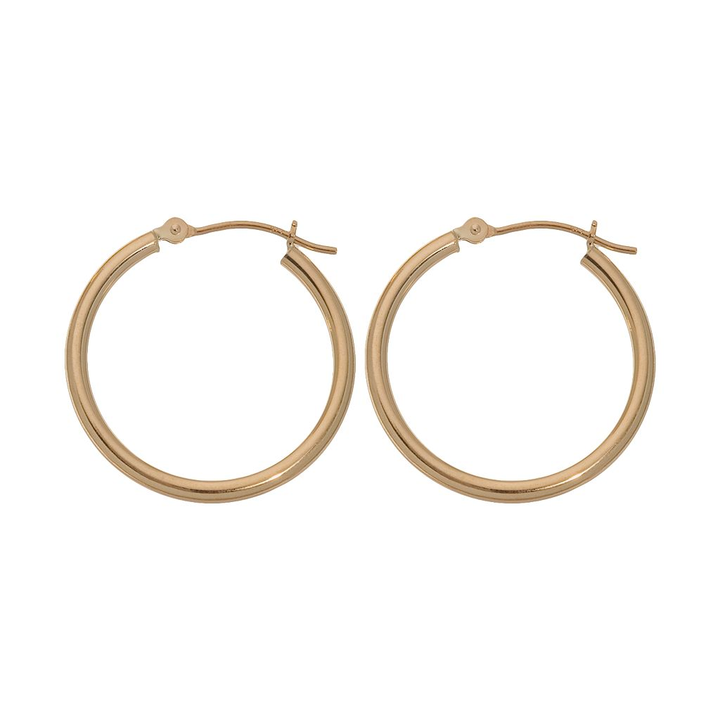 18k Gold Polished Hoop Earrings