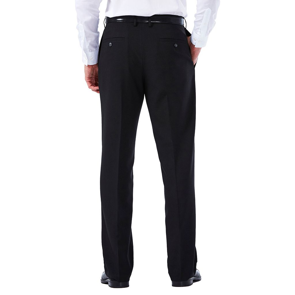 Men's Haggar eCLo Tonal Plaid Classic-Fit Flat-Front Dress Pants