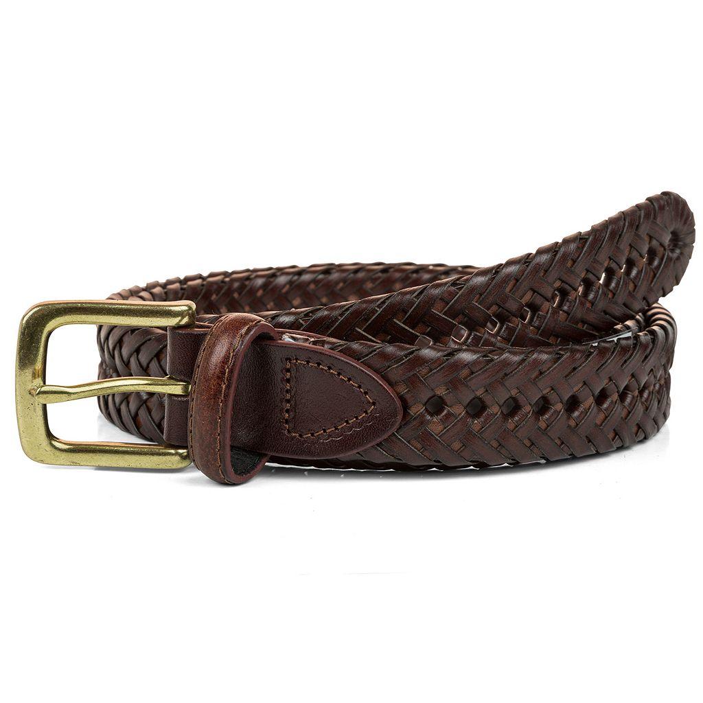 Men's Haggar Braided Leather Belt