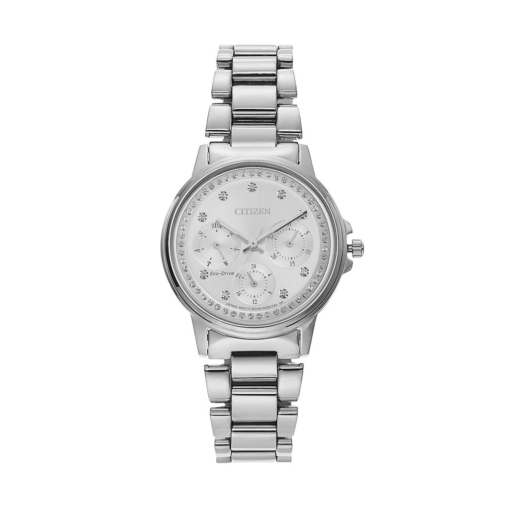 Citizen Eco-Drive Women's Silhouette Crystal Stainless Steel Watch - FD2040-57A