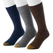 Men's GOLDTOE 3-Pack Johnny Rib Dress Socks