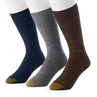 Men's GOLDTOE 3-Pack Johnny Rib Dress Socks