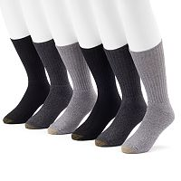 Men's GOLDTOE 6-Pack Harrington Crew Socks