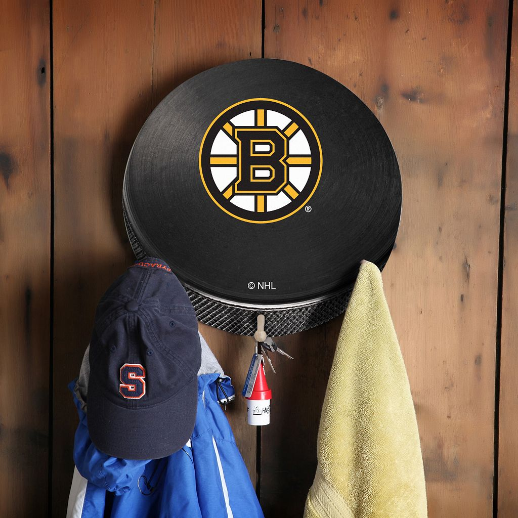Boston Bruins Hockey Puck Coat Hanger