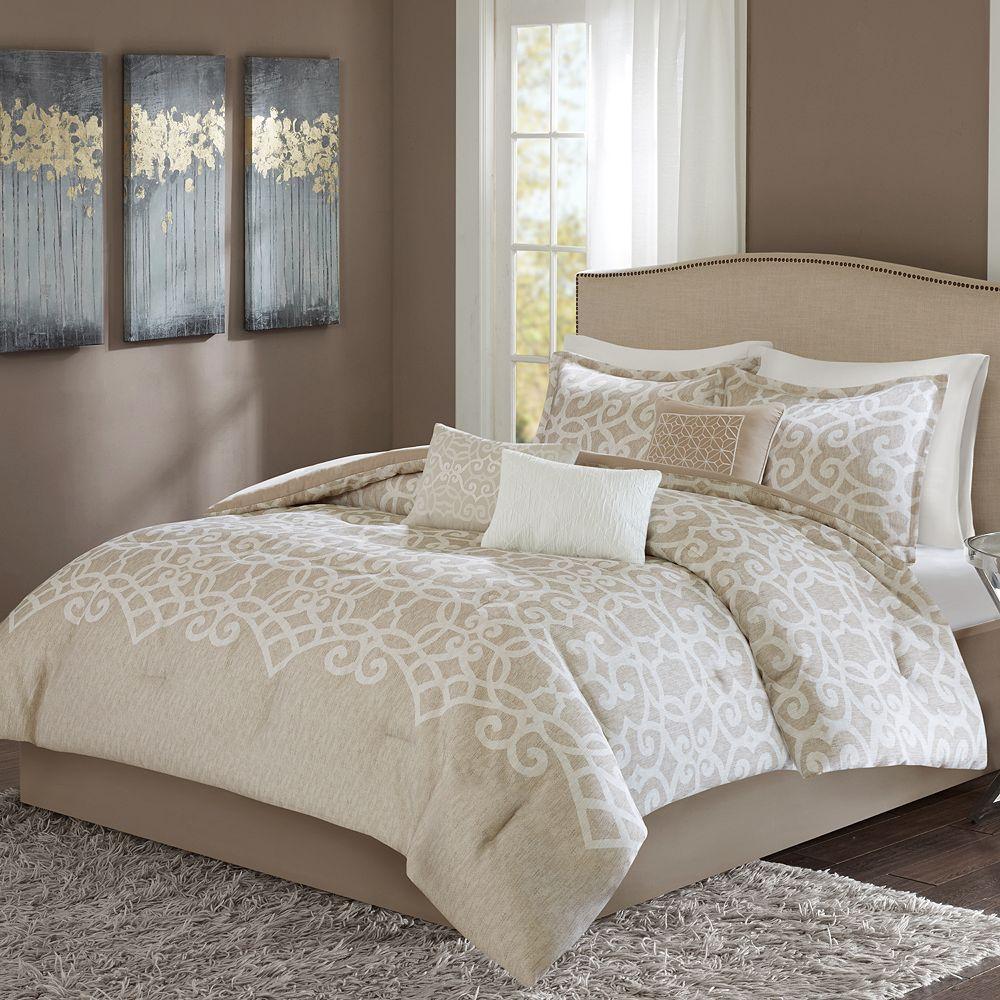 Lavender floral bedding - Madison Park Beatrice 7 Piece Comforter Set