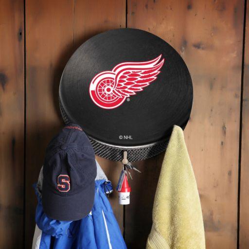 Detroit Red Wings Hockey Puck Coat Hanger