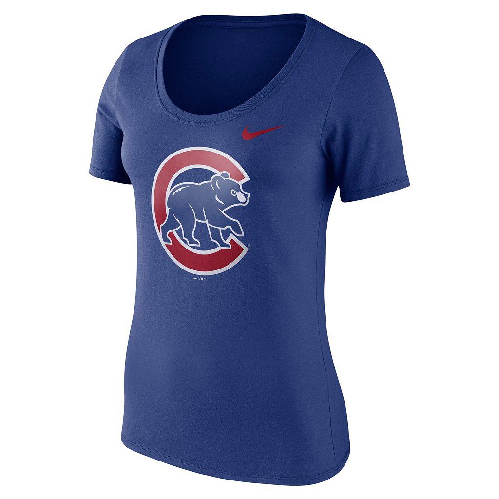 Women's Nike Chicago Cubs Scoopneck Tee