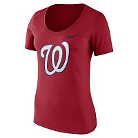 Women's Nike Washington Nationals Scoopneck Tee