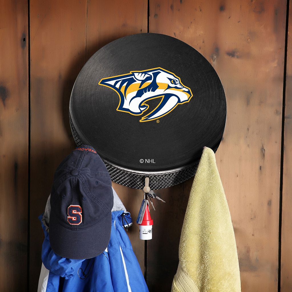 Nashville Predators Hockey Puck Coat Hanger