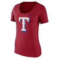 Women's Nike Texas Rangers Scoopneck Tee