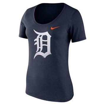 Women's Nike Detroit Tigers Scoopneck Tee