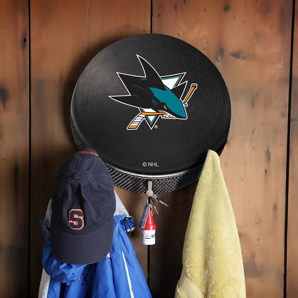 San Jose Sharks Hockey Puck Coat Hanger