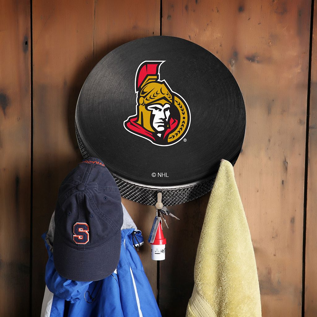 Ottawa Senators Hockey Puck Coat Hanger