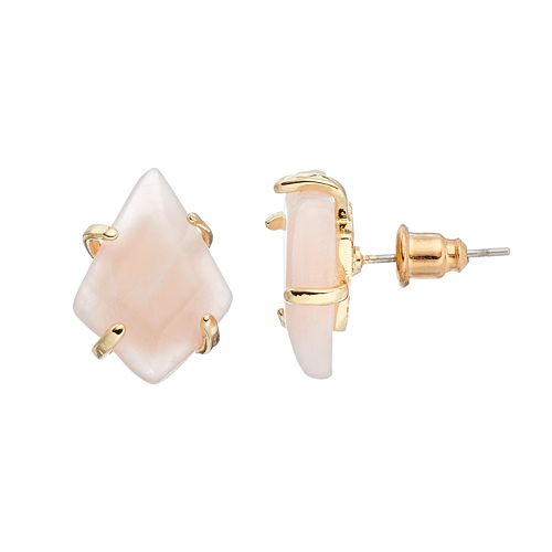 LOLI BIJOUX Breast Cancer Awareness Pink Stud Earrings