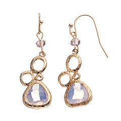 LOLI BIJOUX Breast Cancer Awareness Pink Teardrop Earrings