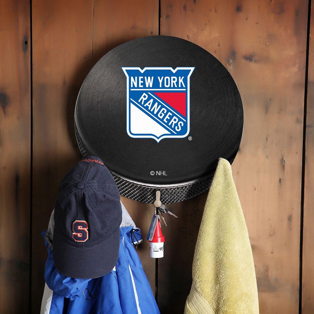 New York Rangers Hockey Puck Coat Hanger