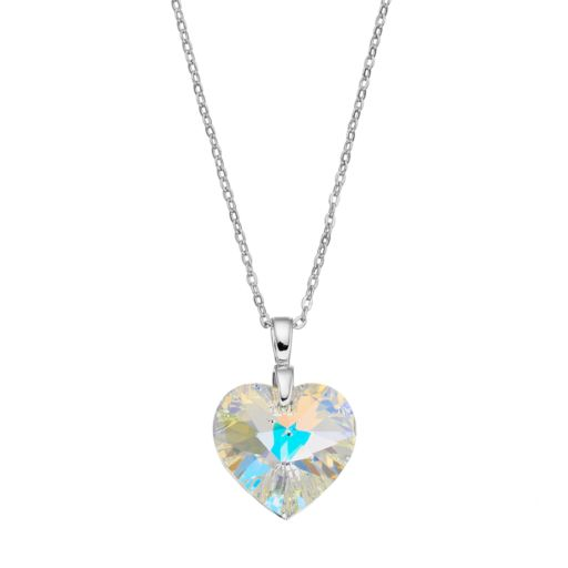 Brilliance Silver Plated Heart Pendant with Swarovski Crystals