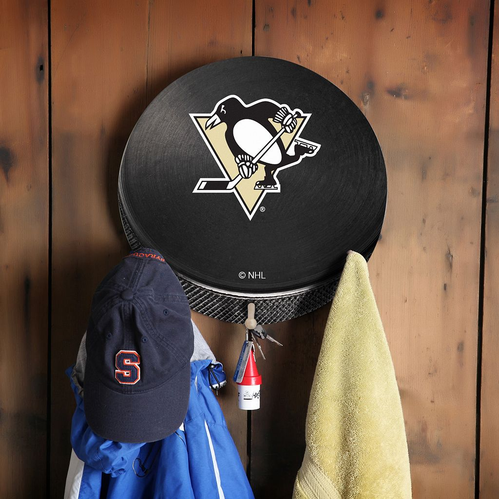 Pittsburgh Penguins Hockey Puck Coat Hanger