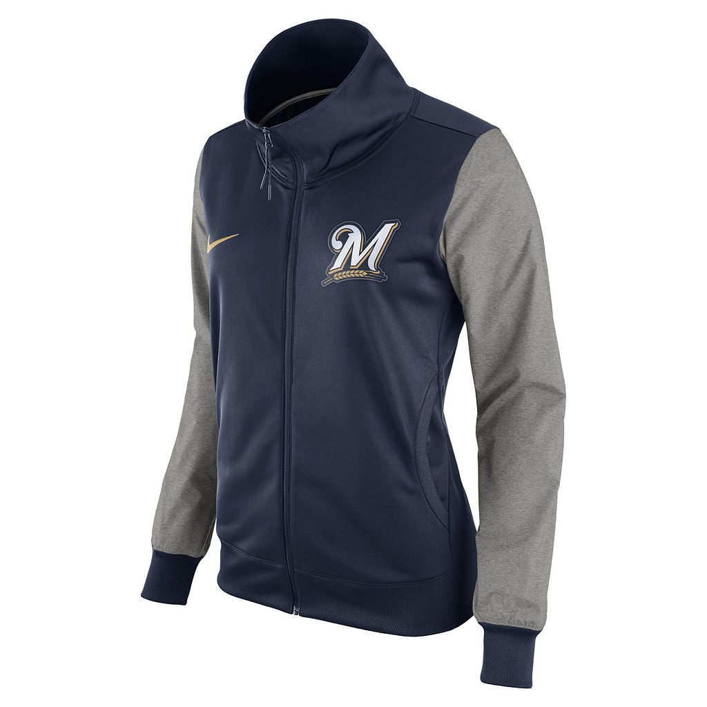 Women's Nike Milwaukee Brewers Track Jacket