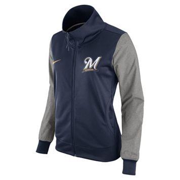 Women's Nike Milwaukee Brewers Track Jacket