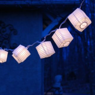 LumaBase White Lantern String Lights