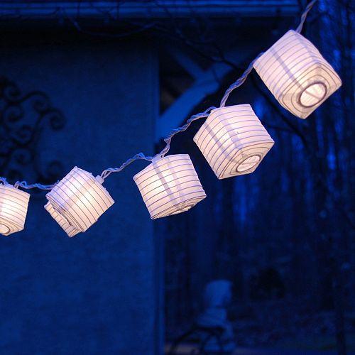 LumaBase White Lantern String Lights