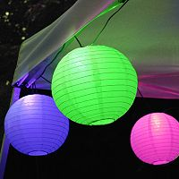 LumaBase Multi Color Paper Lantern String Lights