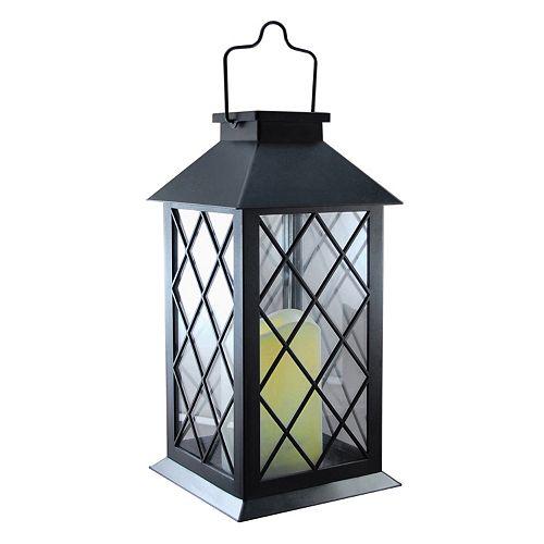 LumaBase Tudor Solar Lantern & LED Candle